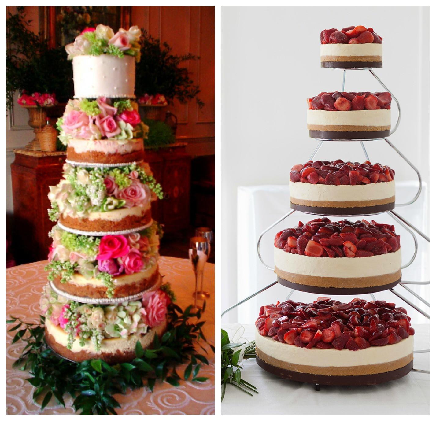 Cheesecake Wedding Cakes  Tea & Doilies