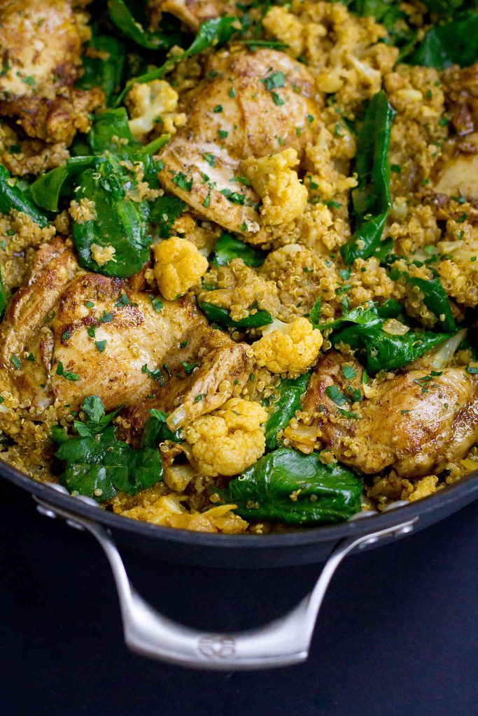 Chicken And Quinoa Recipe Healthy  e Pot Curry Chicken Quinoa & Cauliflower VegItUp