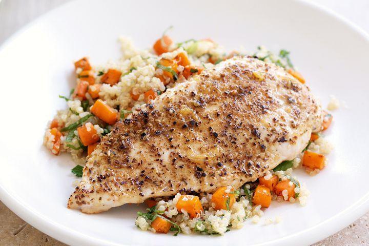 Chicken And Quinoa Recipe Healthy  Dukkah chicken and quinoa salad