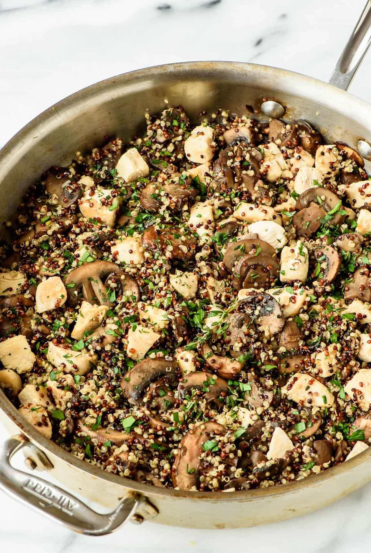 Chicken And Quinoa Recipe Healthy  Skillet Mushroom Chicken and Quinoa Recipe