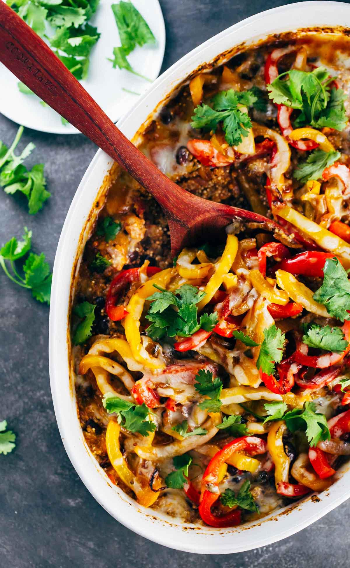 Chicken And Quinoa Recipe Healthy  Easy Mexican Chicken Quinoa Casserole Recipe Pinch of Yum