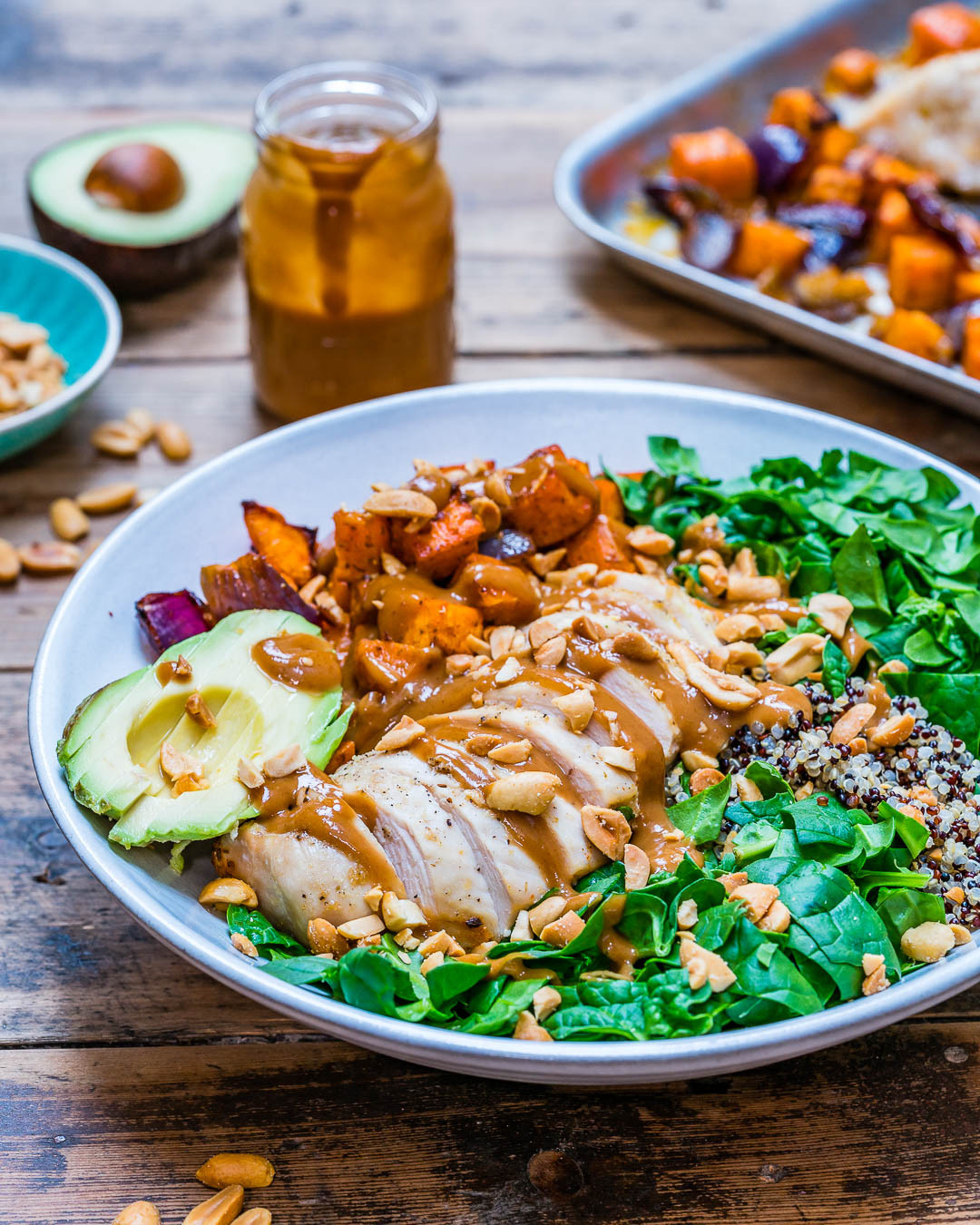 Chicken And Quinoa Recipe Healthy  Healthy Chicken Salad With Quinoa And Roasted Veggies