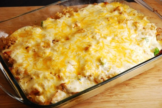 Chicken And Rice Casserole Healthy  Cheesy Chicken and Rice Casserole – 7 Points LaaLoosh