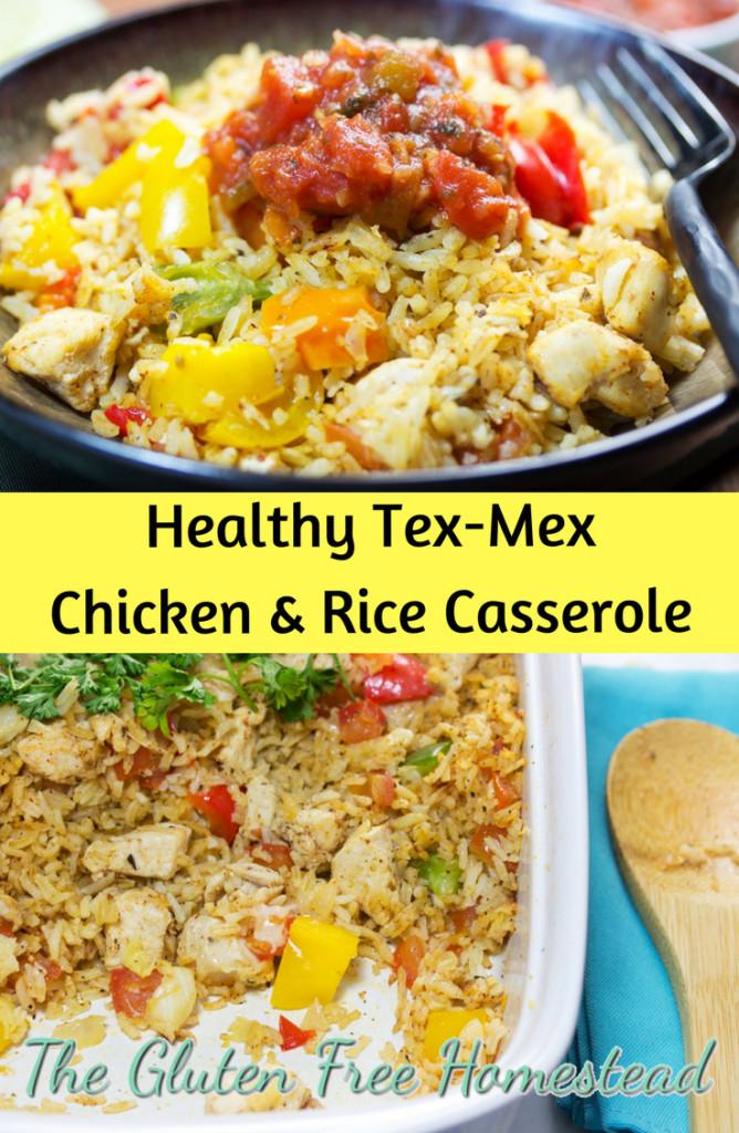 Chicken And Rice Casserole Healthy  Healthy Tex Mex Chicken And Rice Casserole
