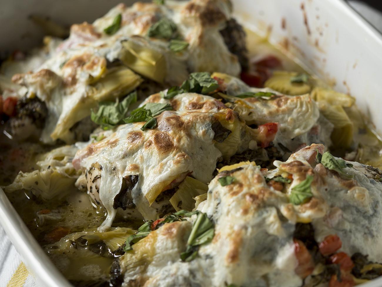 Chicken Artichoke Casserole Healthy  healthy artichoke chicken bake