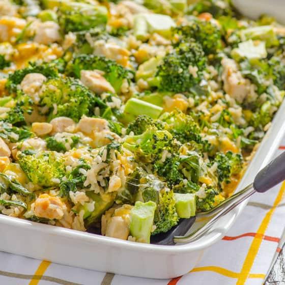 Chicken Broccoli And Rice Casserole Healthy  Healthy Chicken Broccoli Rice Casserole iFOODreal
