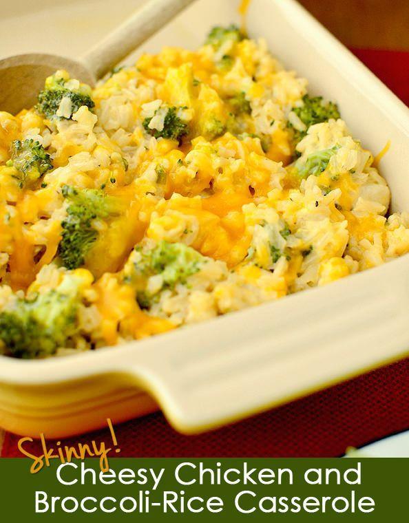 Chicken Broccoli And Rice Casserole Healthy  Skinny Cheesy Chicken and Broccoli Rice Casserole