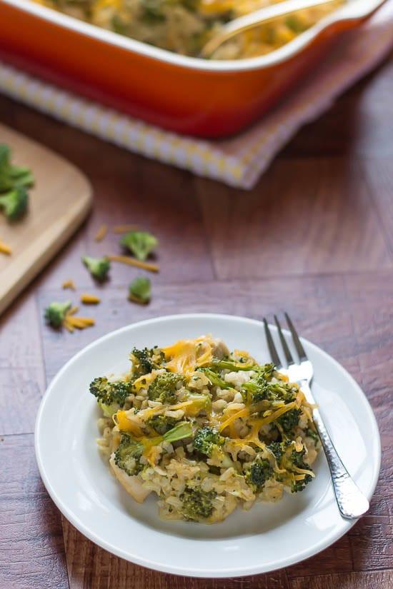 Chicken Broccoli And Rice Casserole Healthy  Cheesy Chicken Broccoli Rice Casserole