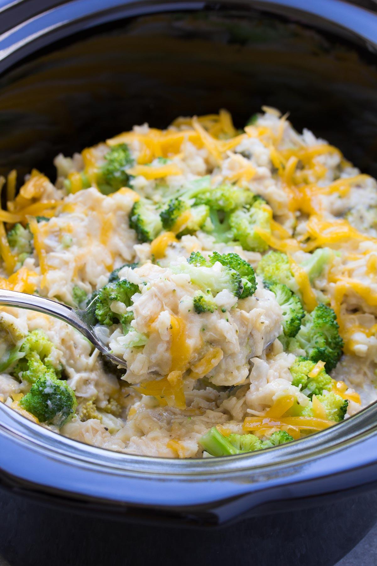Chicken Broccoli And Rice Casserole Healthy  Slow Cooker Chicken Broccoli and Rice Casserole