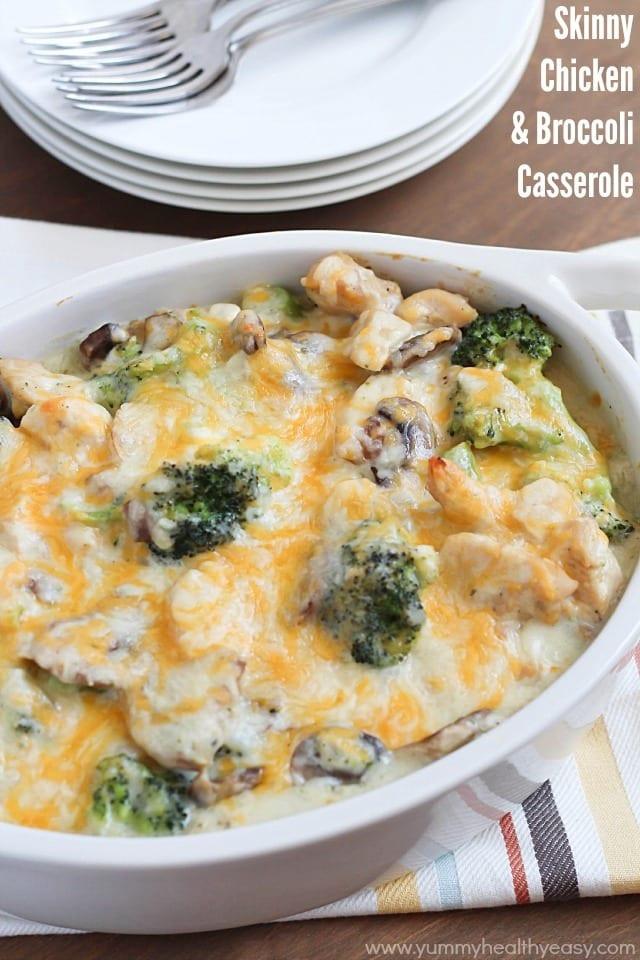 Chicken Casserole Healthy  Skinny Chicken & Broccoli Casserole Yummy Healthy Easy