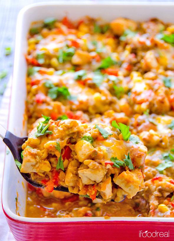 Chicken Casserole Healthy  easy healthy chicken casserole