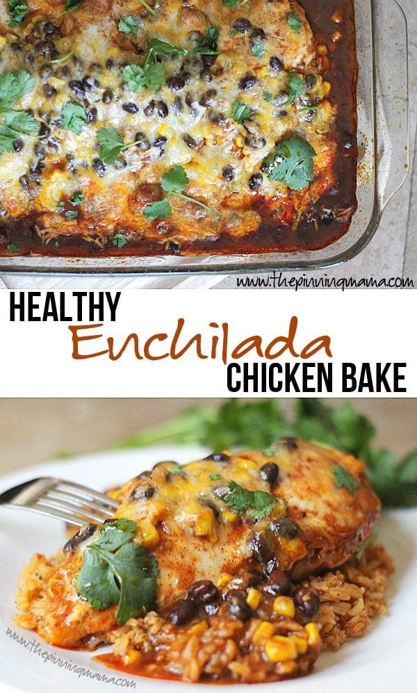 Chicken Enchilada Casserole Healthy  Healthy Enchilada Chicken Bake Recipe