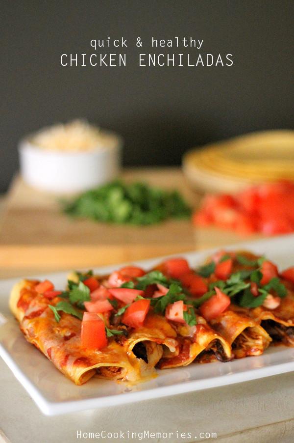 Chicken Enchiladas Healthy  Quick and Healthy Chicken Enchiladas Recipe Home Cooking