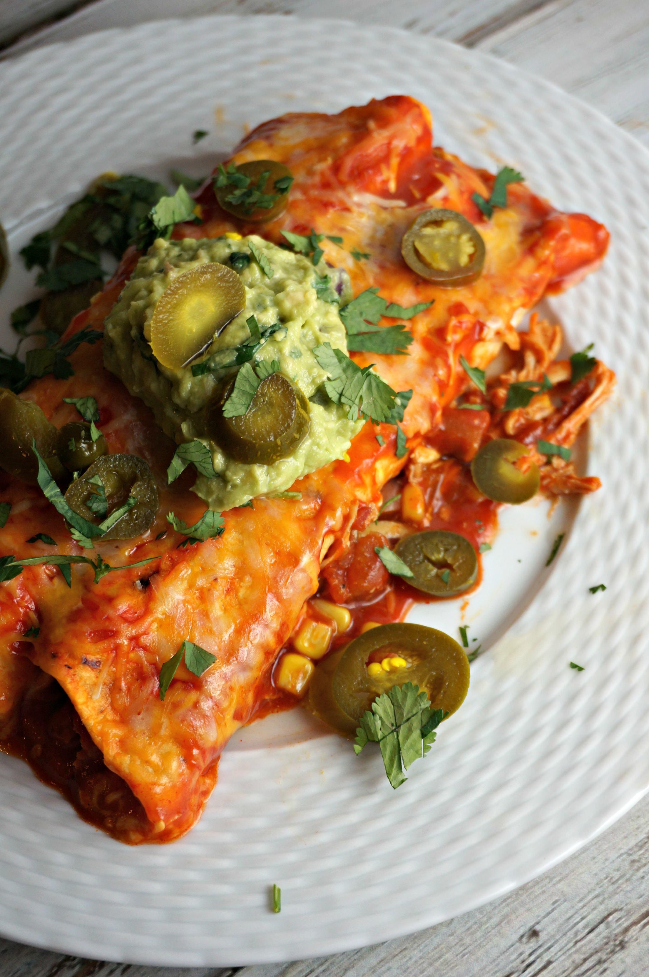 Chicken Enchiladas Healthy  Chicken Enchilada Recipe Makes TWO Pans