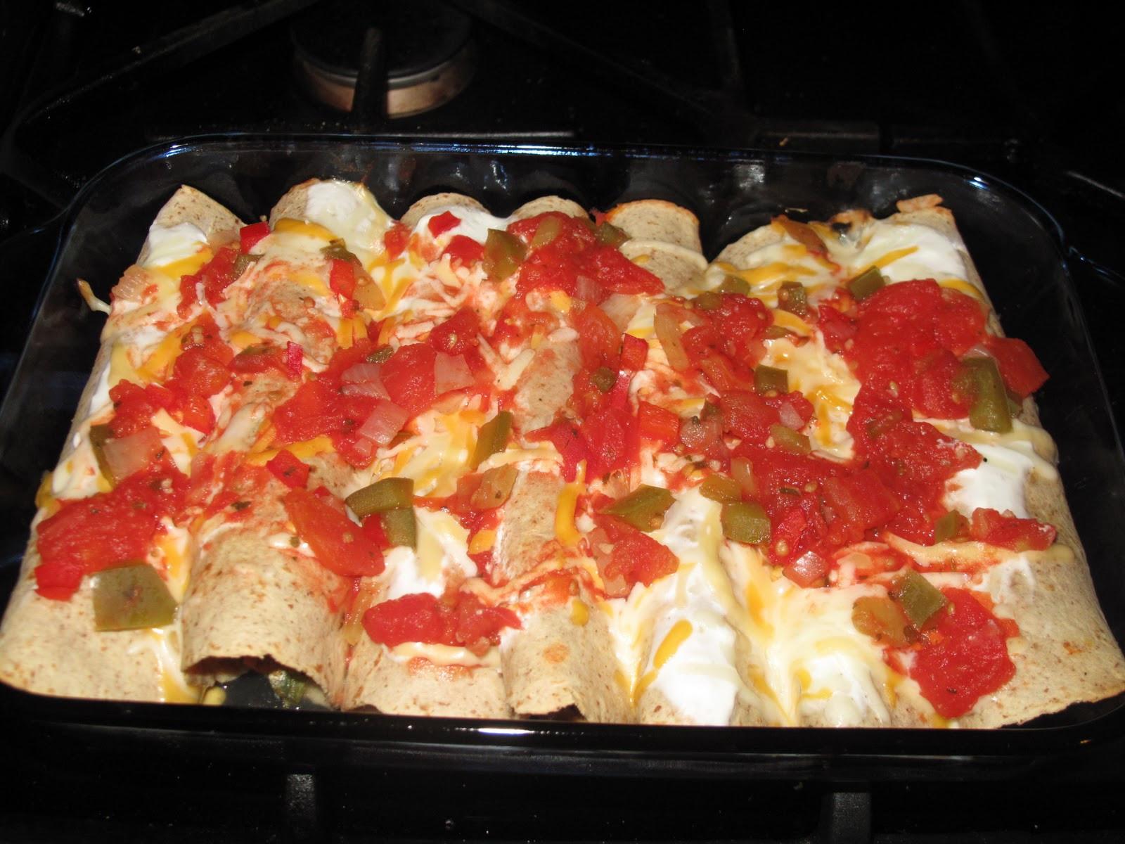 Chicken Enchiladas Healthy  BJ Brinker s Home Cooking Healthy Chicken Enchiladas