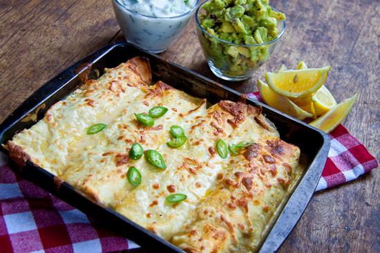 Chicken Enchiladas Healthy  Healthier Chicken Enchiladas Simply Delicious