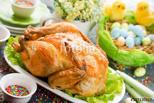"Chicken For Easter Dinner  ""Easter dinner food idea roasted Easter chicken"" zdjęć"