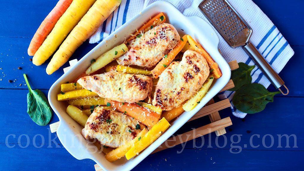 Chicken For Easter Dinner  Baked chicken breast Roasted carrots Easter dinner ideas