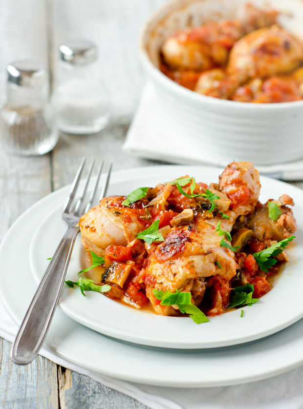 Chicken Legs Recipe Healthy  Healthy Chicken Drumsticks with Tomatoes and Mushrooms
