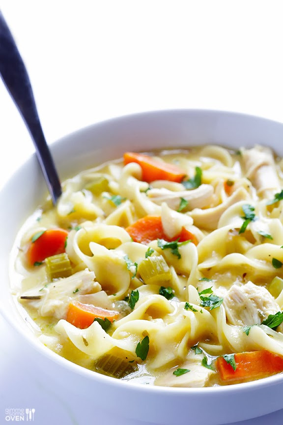 Chicken Noodle Soup Healthy  Life Fad Healthy Creamy Homemade Chicken Noodle Soup