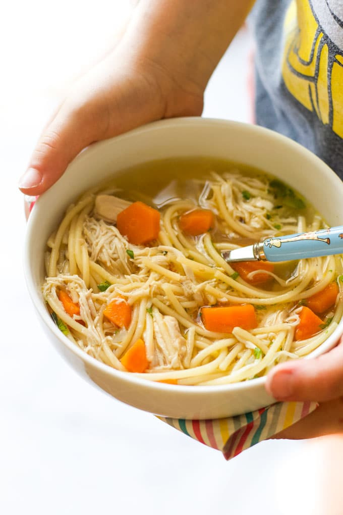 Chicken Noodle Soup Healthy  Slow Cooker Chicken Noodle Soup Healthy Little Foo s