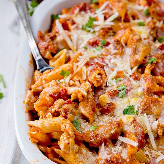 Chicken Pasta Casserole Healthy  Chicken and Penne Parmesan Casserole Recipe