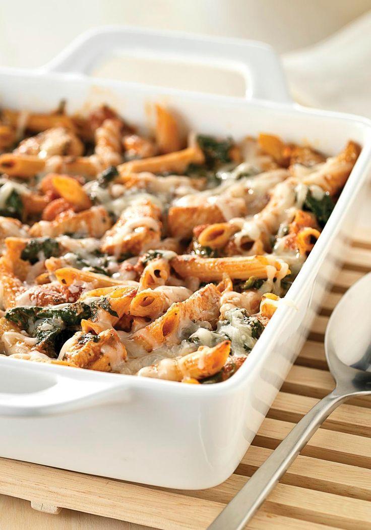 Chicken Pasta Casserole Healthy  Healthy Three Cheese Chicken Pasta Bake Recipe — Dishmaps