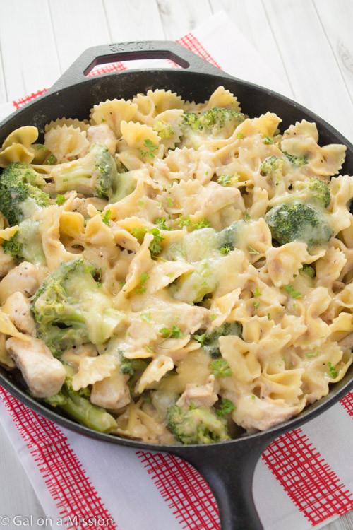 Chicken Pasta Casserole Healthy  Chicken Broccoli & Pasta Skillet Casserole Gal on a
