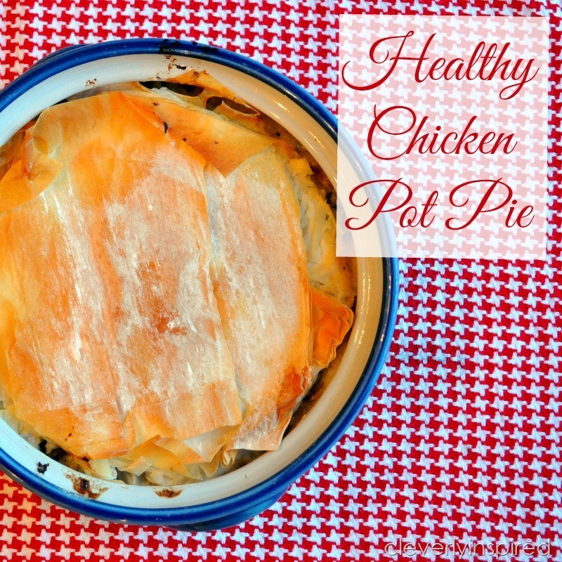 Chicken Pot Pie Recipe Healthy  Healthy Chicken Pot Pie Recipe Cleverly Inspired