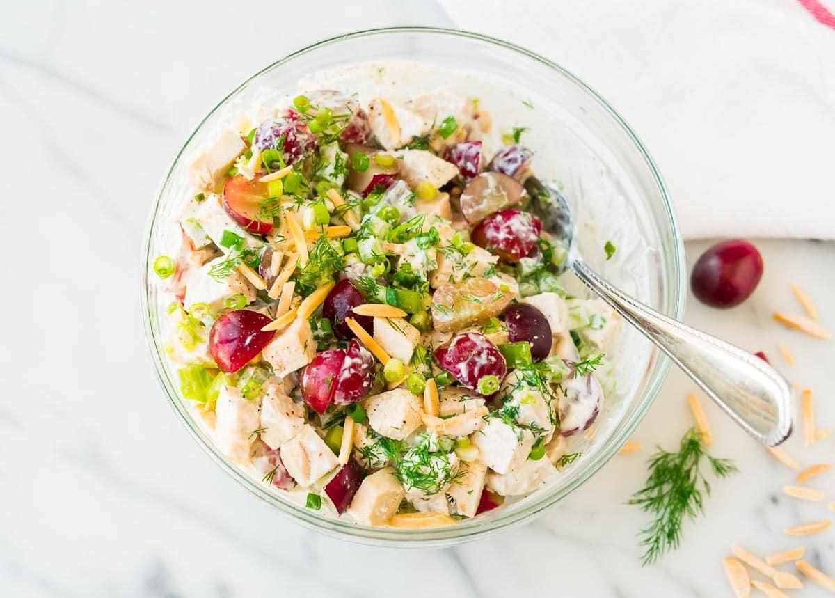 Chicken Salad Healthy  Greek Yogurt Chicken Salad with Dill