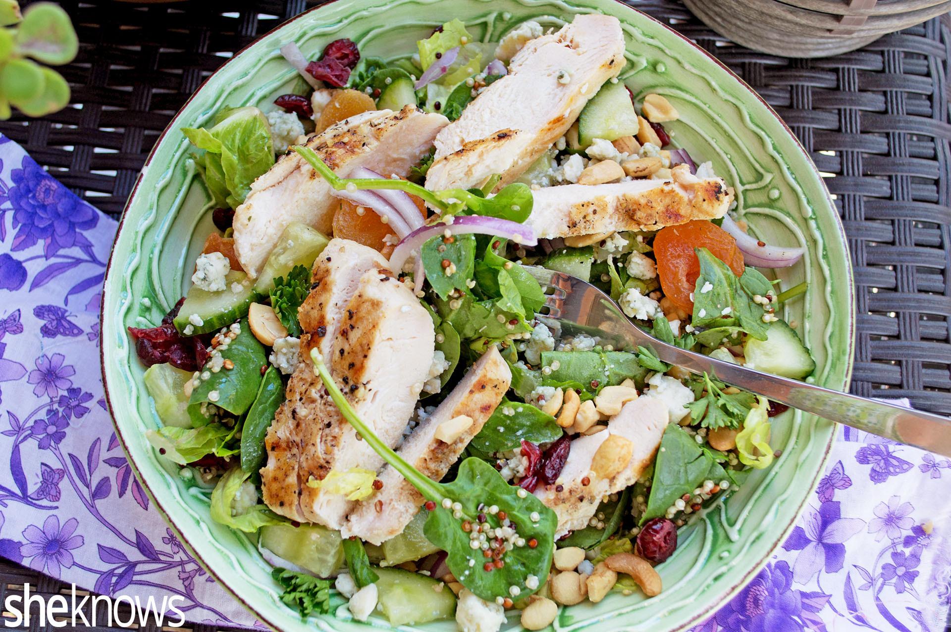 Chicken Salad Healthy  Healthy Chicken Salad Recipe — Dishmaps