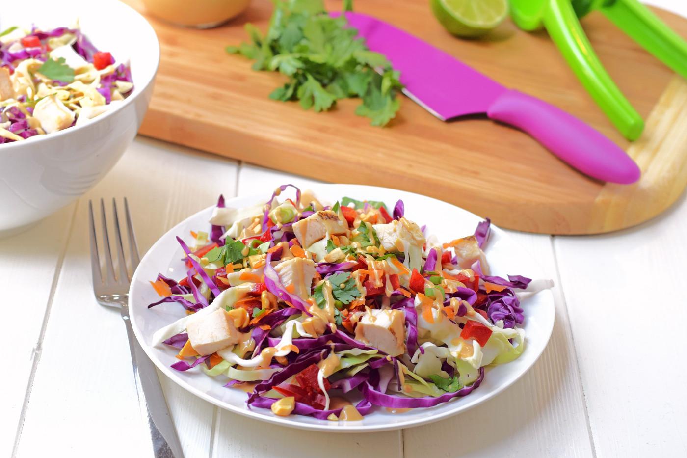 Chicken Salad Healthy  Rainbow Chicken Salad