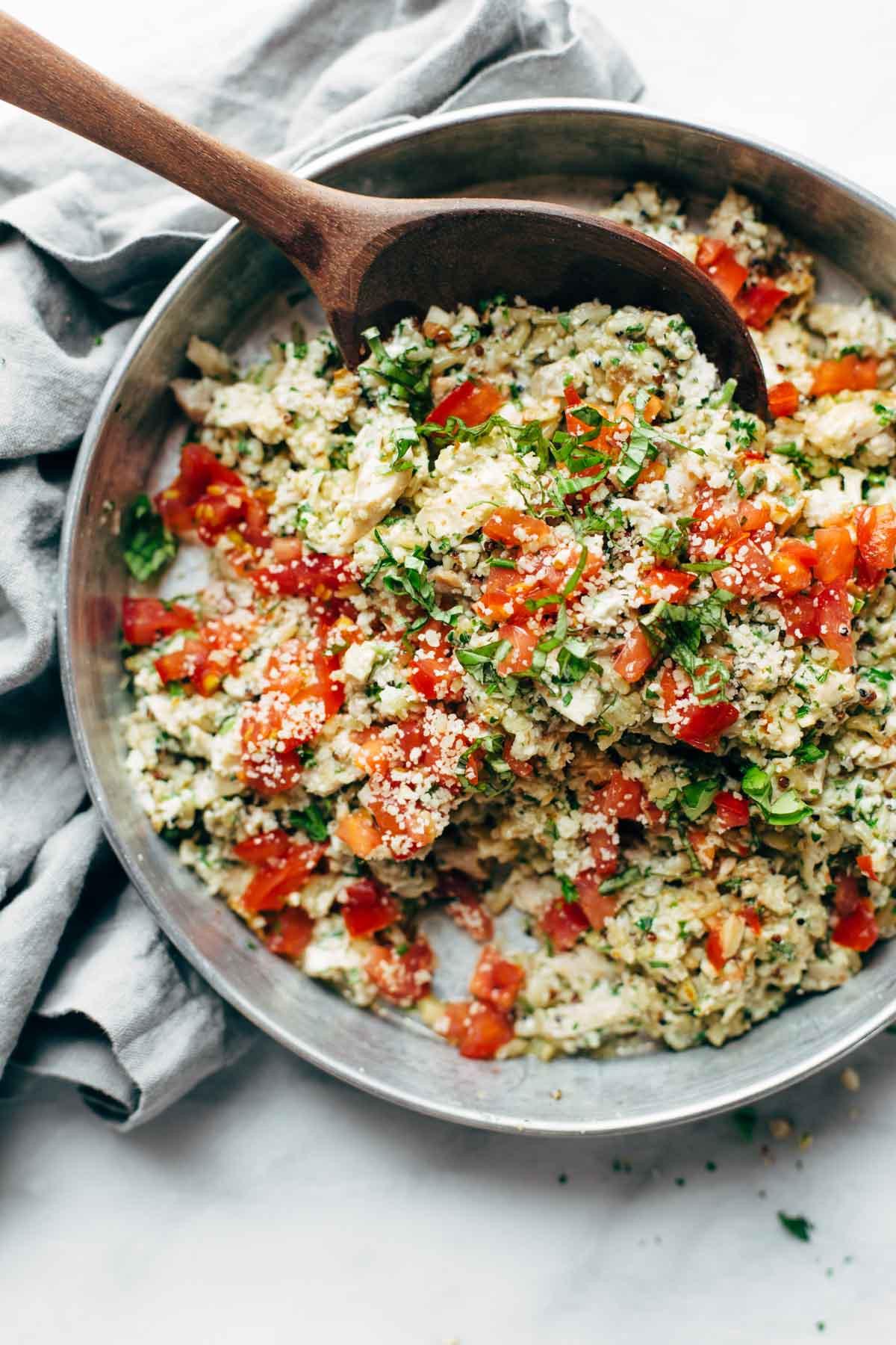 Chicken Salad Healthy  Healthy Garlic Herb Chicken Salad Recipe Pinch of Yum
