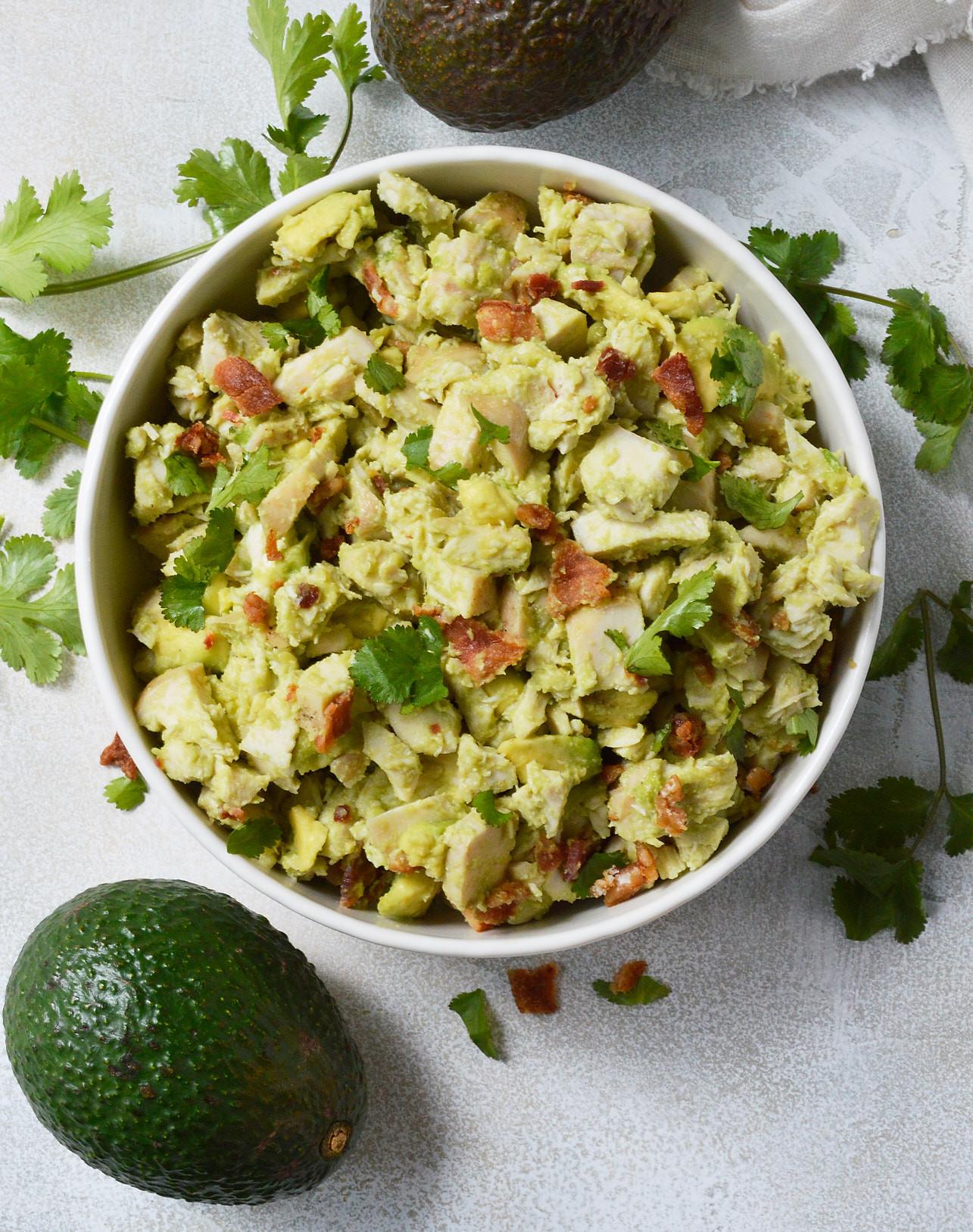 Chicken Salad Recipe Healthy  Bacon Avocado Chicken Salad Whole30 Recipe WonkyWonderful