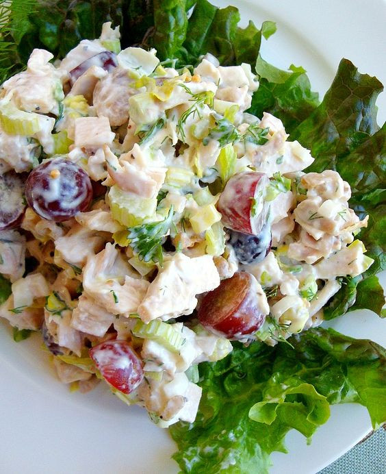 Chicken Salad Recipe Healthy  Pinterest • The world's catalog of ideas
