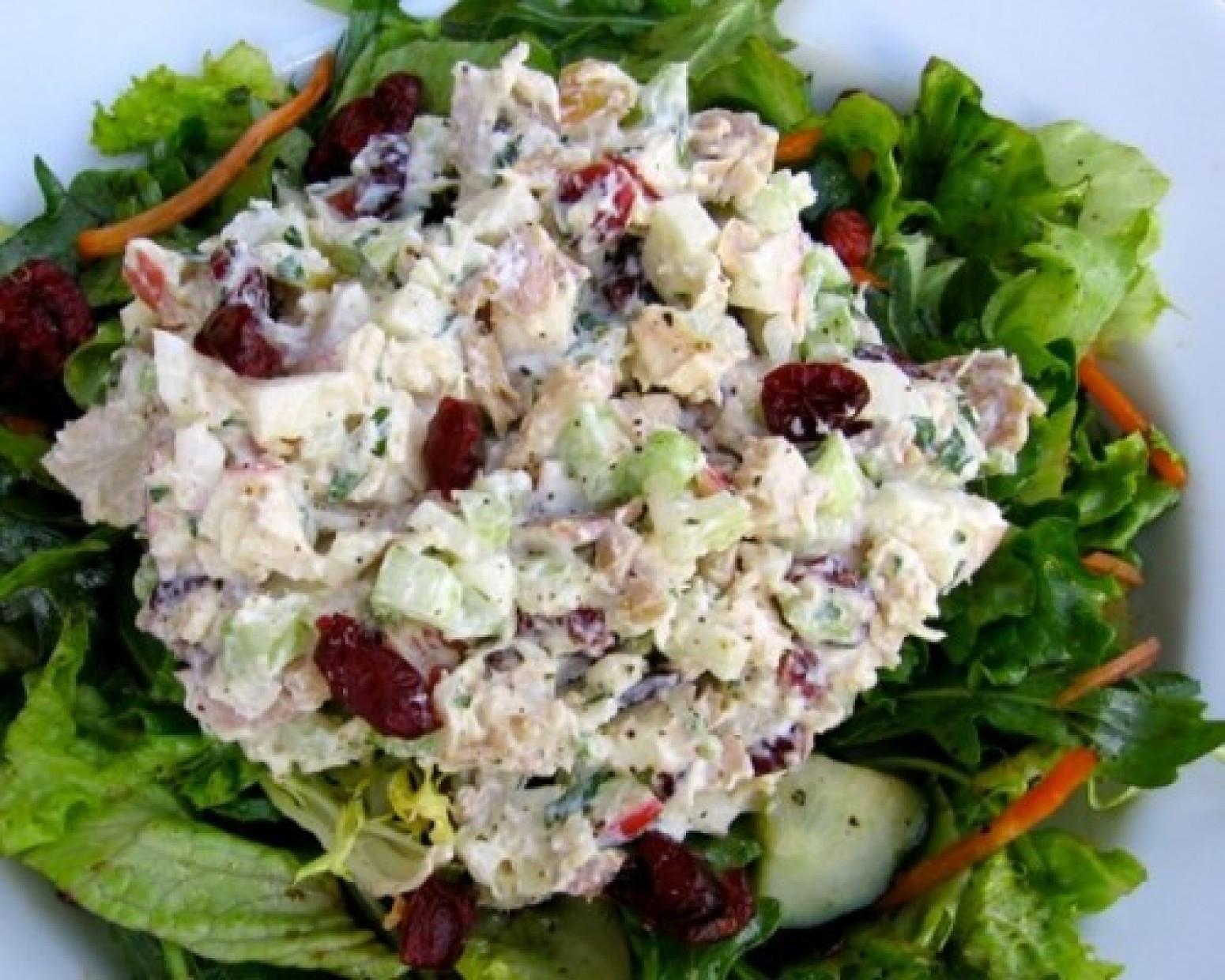 Chicken Salad Recipe Healthy  Healthy Chicken Salad with Apples & Cranberries Recipe