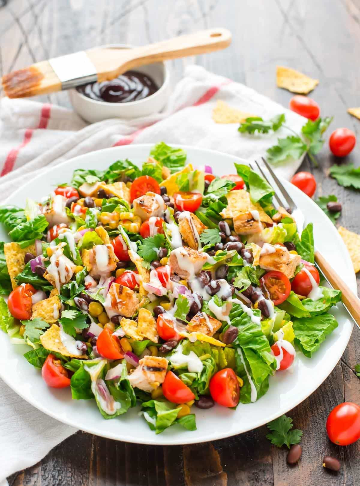 Chicken Salad Recipe Healthy  BBQ Chicken Salad with Creamy Ranch