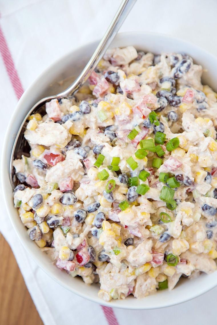 Chicken Salad Recipe Healthy  Skinny Southwest Chicken Dip Yellow Bliss Road
