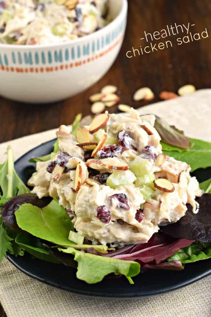 Chicken Salads Healthy  Healthy Chicken Salad Shugary Sweets