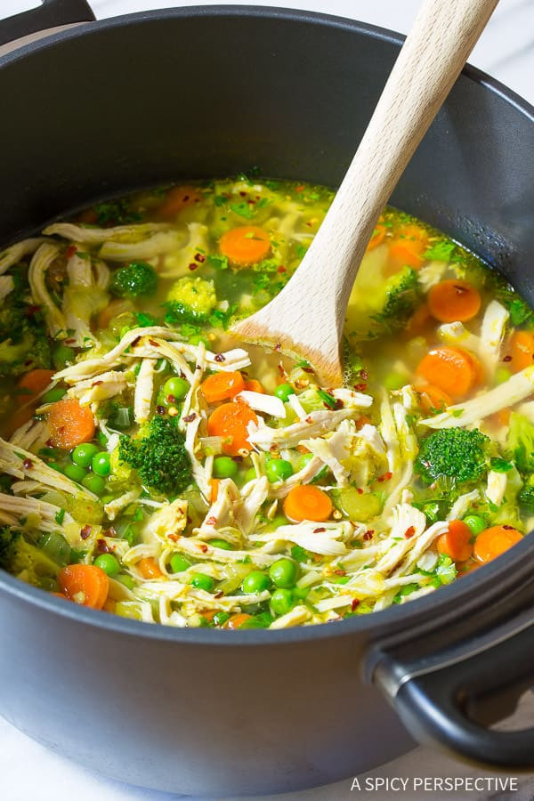 Chicken Soup Healthy  spicy chicken soup recipes from scratch