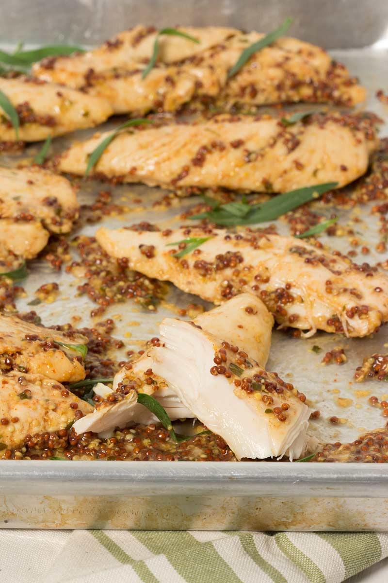 Chicken Tenders Healthy Recipes  Mustard Baked Chicken Tenders