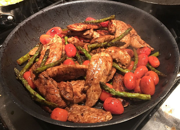 Chicken Tenders Healthy Recipes  Healthy Chicken Tenders Recipe With Asparagus & Tomatoes
