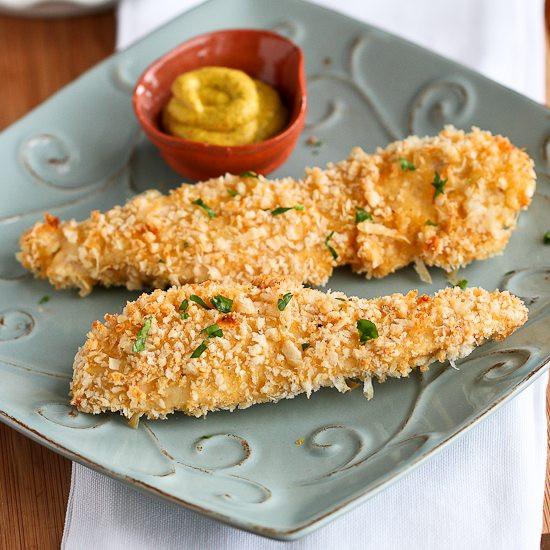 Chicken Tenders Healthy Recipes  Crispy Baked Parmesan Crusted Chicken Tenders Recipe