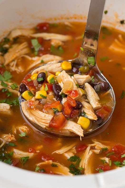 Chicken Tortilla Soup Crock Pot Healthy  40 of the BEST fort Food Recipes Kitchen Fun With My