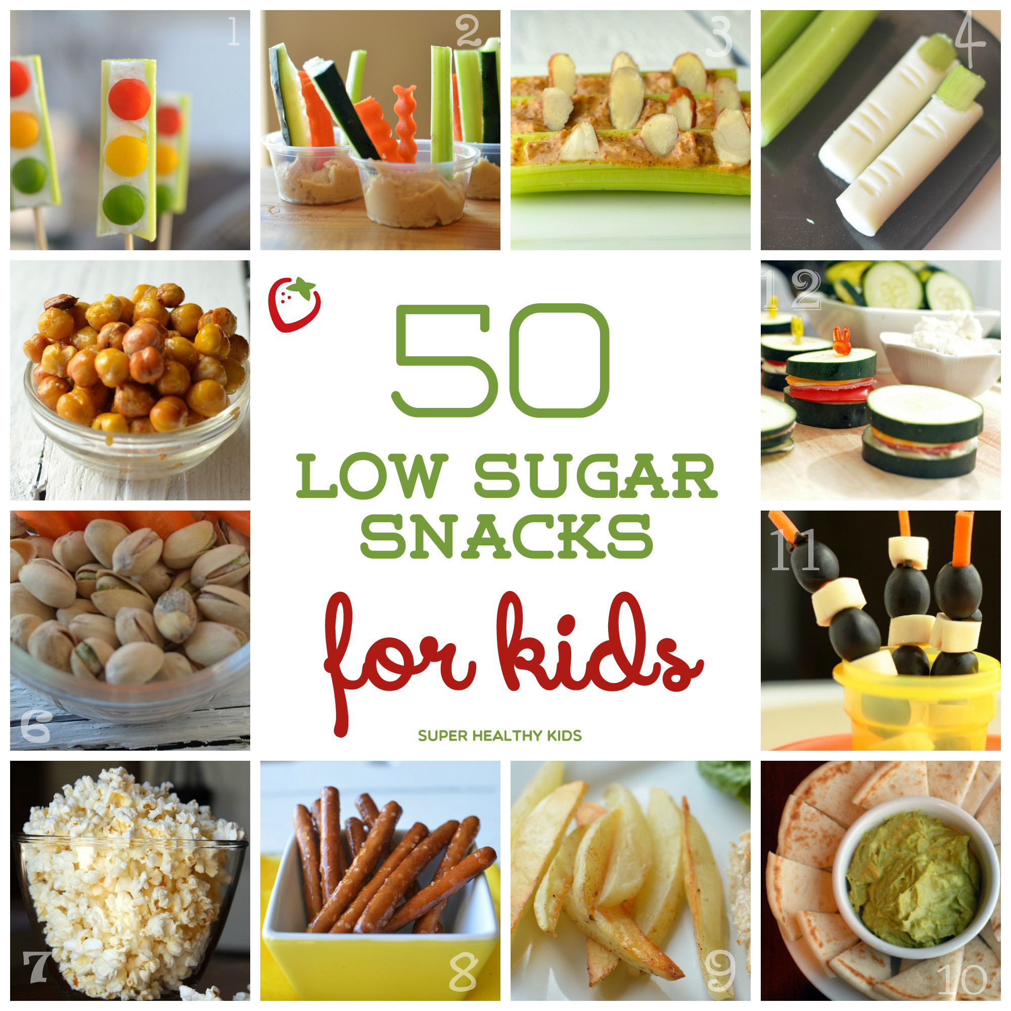 Childrens Healthy Snacks  50 Low Sugar Snacks for Kids