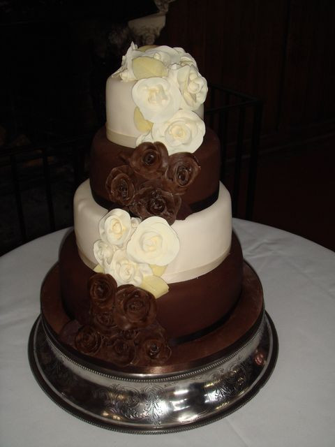 Chocolate And Vanilla Wedding Cakes  54 best images about Wedding Cakes on Pinterest