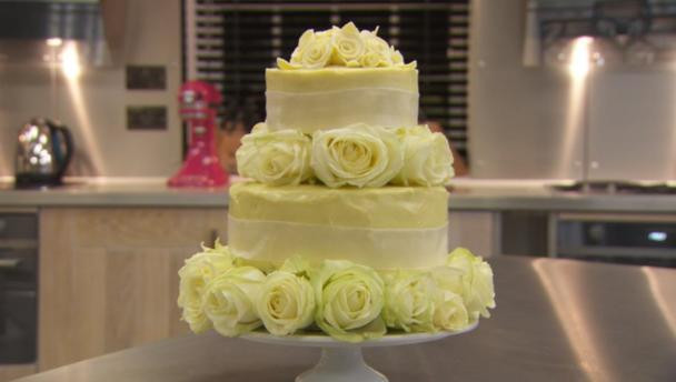 Chocolate And White Wedding Cakes  BBC Food Recipes White chocolate wedding cake