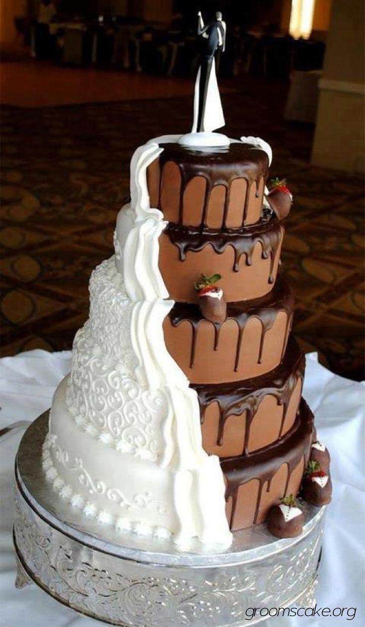 Chocolate And White Wedding Cakes  grooms cake wedding cake bo 1755×3009