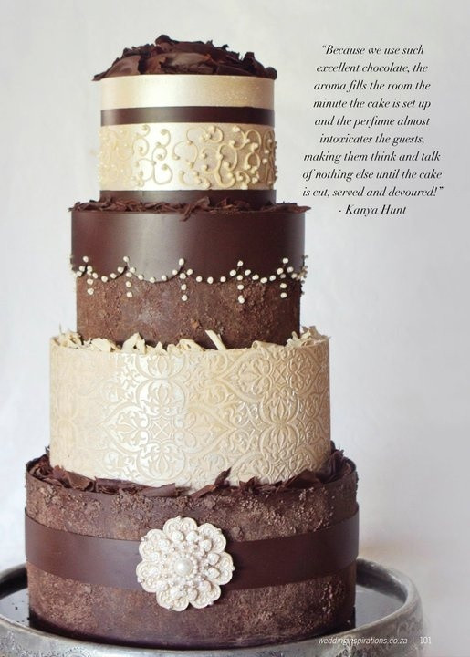 Chocolate And White Wedding Cakes  Chocolate Elegance – Cake Geek Magazine