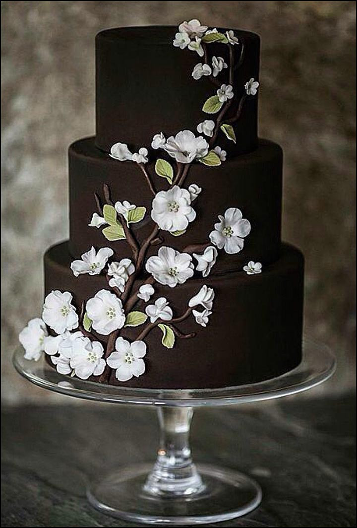 Chocolate And White Wedding Cakes  Chocolate Wedding Cakes That Are Simply Sinful